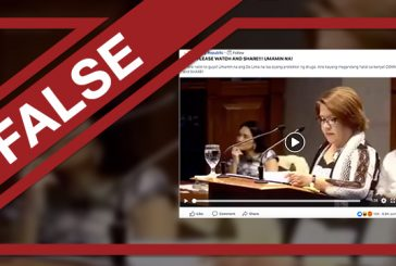 FALSE: Video of De Lima 'admitting' she's a drug lord coddler