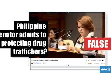 This video of a Philippine lawmaker was edited to make it appear that she admitted involvement in the drug trade