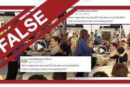 FALSE: Video of De Lima 'partying in Bilibid'