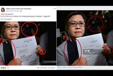 Photo of De Lima petitioning SC to allow visits from former aide is FAKE!