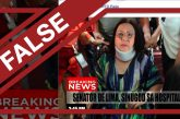 Photo of De Lima wearing neck-brace is FAKE!